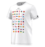T-Shirt Euro 2016 Road to France (Weiss)