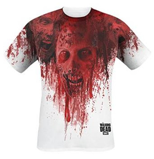 T-Shirt Der wandelnde Leichnam - Walkers In Face Stain Full Printed