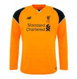 Trikot Liverpool FC 2016-2017 Away Long Sleeve Torwart (Orange)