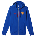 Sweatshirt Man Utd Adidas 3S 2016-2017 (Royal blau)