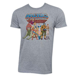 T-Shirt Masters Of The Universe für Männer - Characters Logo