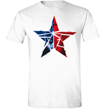 T-Shirt Captain America  - Civil War - Cracked Star in weiss
