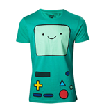 T-Shirt Adventure Time Beemo Games Console- Medium in Turkise