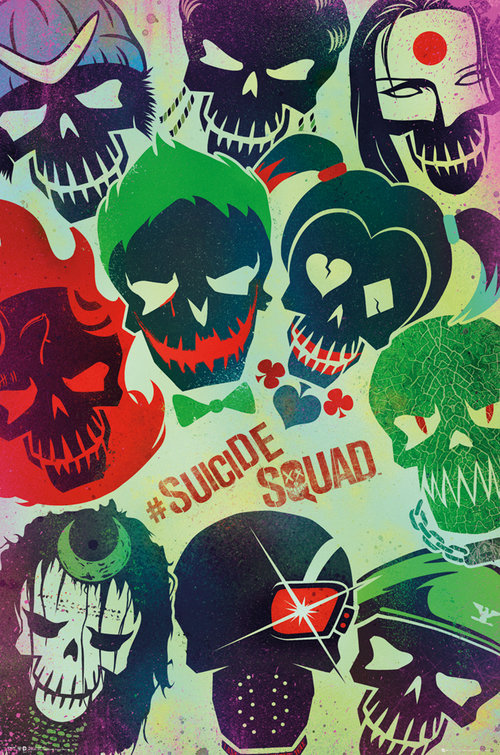 Poster Suicide Squad Faces
