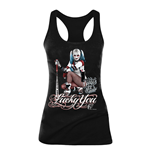 Top Suicide Squad Harley Quinn Lucky You - Grosse L - in schwarz