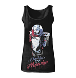 "Top Suicide Squad Harley Quinn ""Daddy's Little Monster"" - Grosse S - in schwarz"