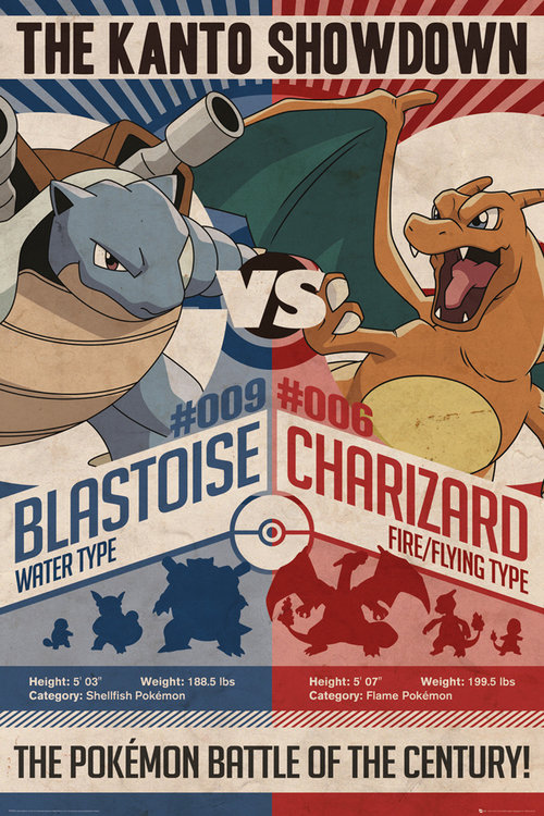 Poster Pokémon Red & Blue