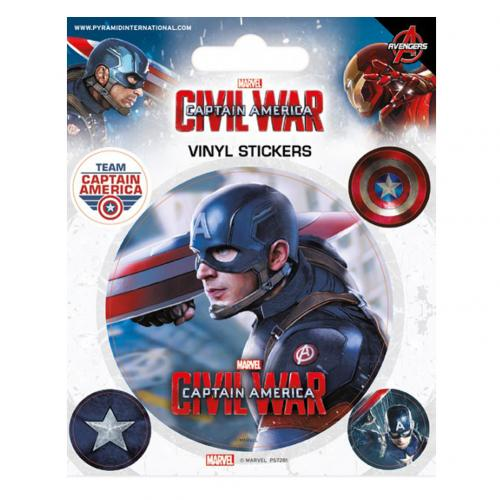 Aufkleber Captain America  Set