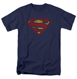 T-Shirt Superman Cracked Logo