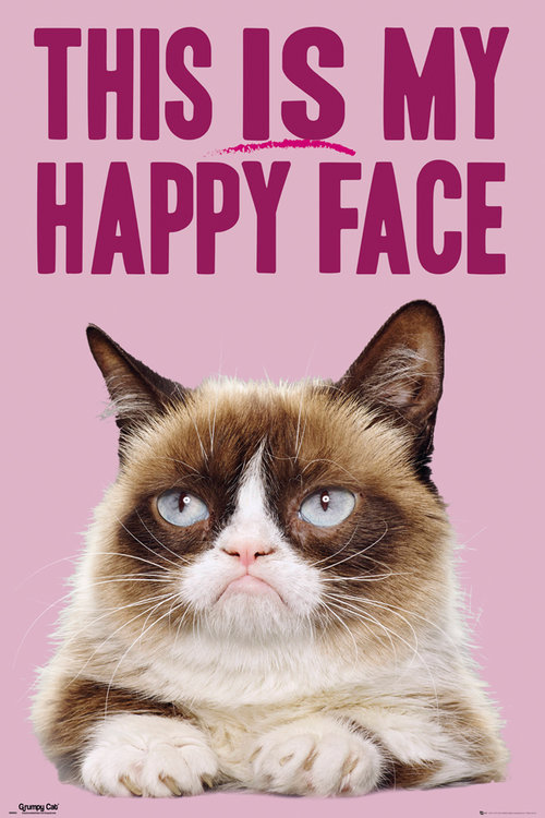 Poster Grumpy Cat Happy Face