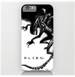 Alien iPhone 6 Plus Schutzhülle Xenomorph Black & White Comic