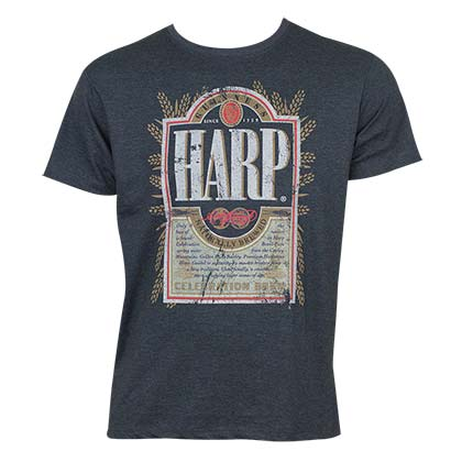 T-Shirt Harp Lager Distressed Label