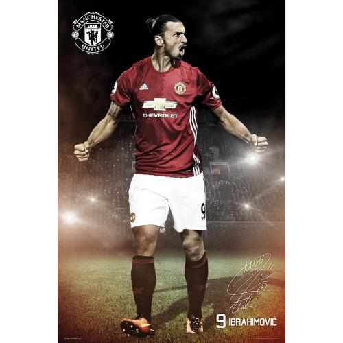 Poster Manchester United FC Ibrahimovic 22