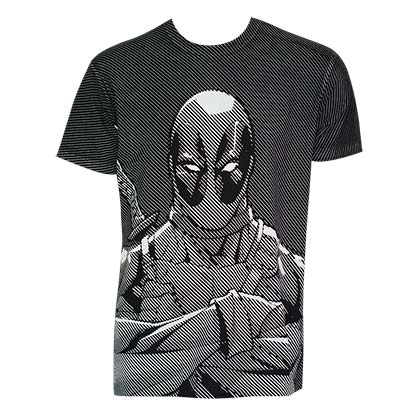 T-Shirt Deadpool Halftone Stripe