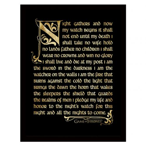 Poster Game of Thrones (Game of Thrones) Nights Watch