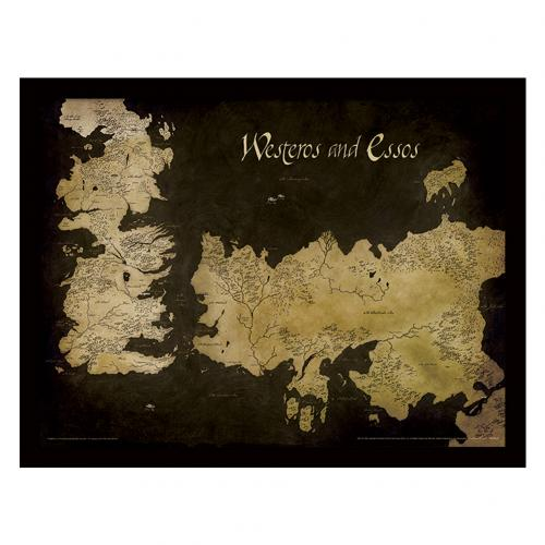 Poster Game of Thrones (Game of Thrones) Map