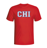 T-Shirt Chile Fussball (Rot)