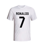 T-Shirt Real Madrid (Weiss) Cristiano Ronaldo - Kinder