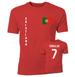 T-Shirt Portugal Fussball (Rot)