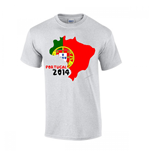 T-Shirt Portugal Fussball (Grau)