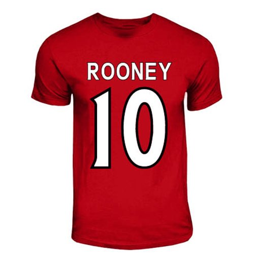 T-Shirt Manchester United FC (Rot) Wayne Rooney