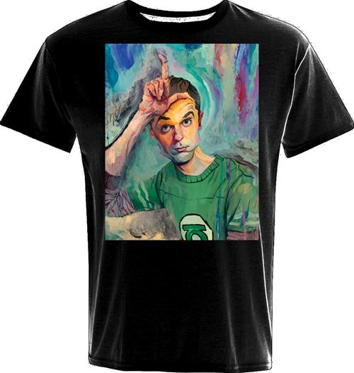 T-Shirt Big Bang Theory Sheldon Art Loser