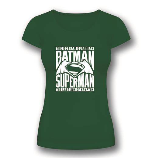 T-Shirt  Batman V Superman Symbol Green fur Frauen