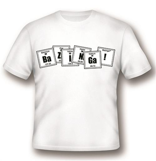 T-Shirt Big Bang Theory Formula in weiss