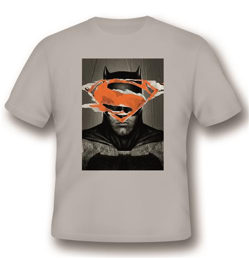 T-Shirt Batman V Superman Battle For Gotham Grey