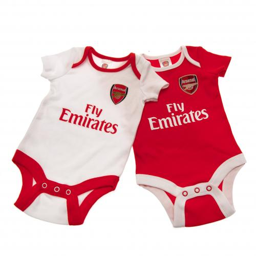 Arsenal F.C. 2 Pack Bodysuit 0-bis 3 Monate CP