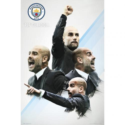 Poster Manchester City FC Guardiola 30