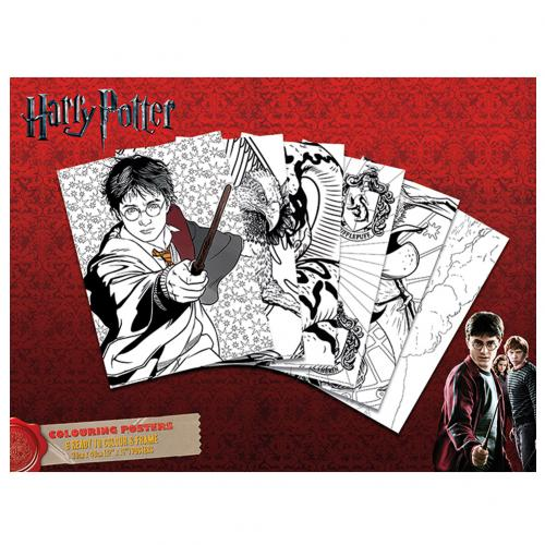 kaufe poster harry potter packung mit 6 posters zum ausmalen. Black Bedroom Furniture Sets. Home Design Ideas