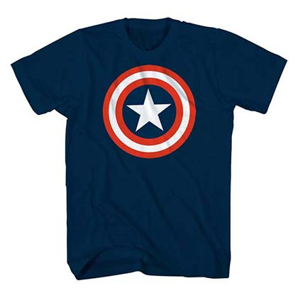 T-Shirt Captain America Star Logo Kinder