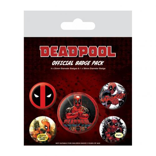 Set Broschen Deadpool