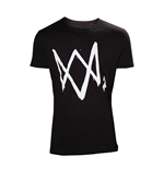 T-Shirt  Watch Dogs 2 - schwarz mit Logo