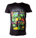 T-Shirt Ninja Turtles - Bright Graffiti in schwarz