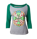 T-Shirt Ninja Turtles - Pizza Raglan T-shirt