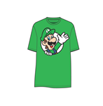 T-Shirt Nintendo Luigi Waving in grun