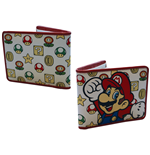 Geldbeutel Nintendo - Mushroom Pattern With Mario Bifold