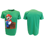 T-Shirt Nintendo - Mario Block in grun