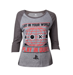 T-Shirt PlayStation - Live in Your World in ours Raglan