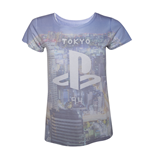 T-Shirt PlayStation - Ladies all over print