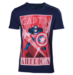 T-Shirt Marvel Captain America - Mann
