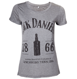 T-Shirt Jack Daniel's - Ladies 1866 T-shirt in grau