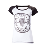 T-Shirt Guinness - Antracite and white Skinnie