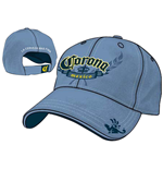 Kappe Corona - Denim Washed ADJ Cap in blau