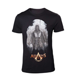 T-Shirt Assassins Creed Movie - mit rotem Logo. In schwarz.