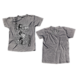 "T-Shirt ""Bare Knuckle Betty"" - AEA Vintage in grau"