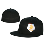 Kappe KNVB - Flexible Widebill White Logo in schwarz