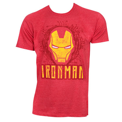 T-Shirt Iron Man Face Logo